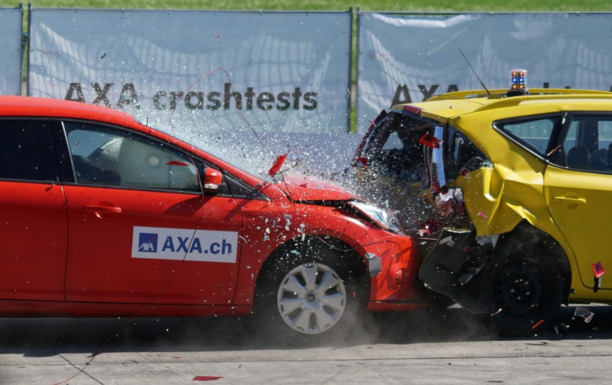 cars crashing against each other