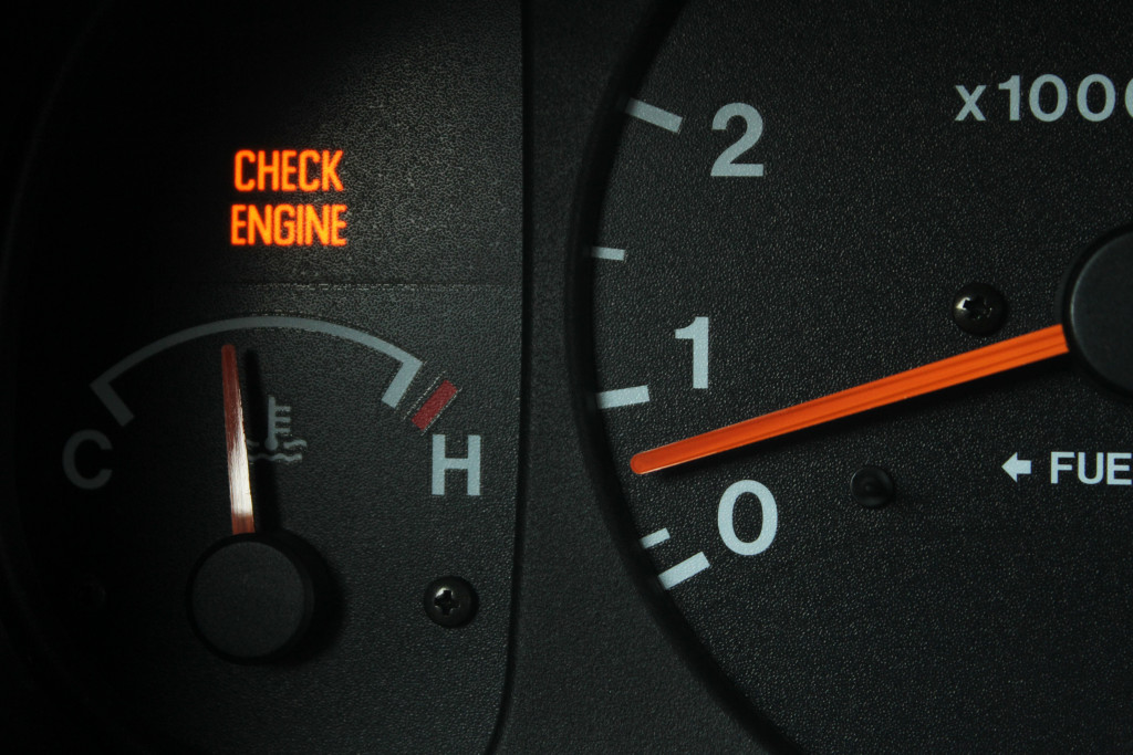 a picture of a car's speedometer